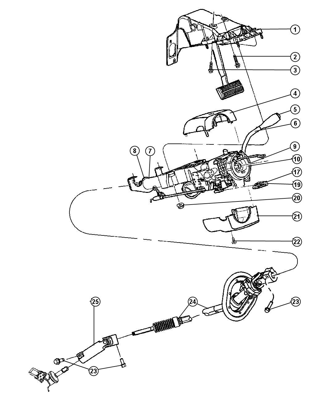 Dodge Ram Steering Parts Diagram
