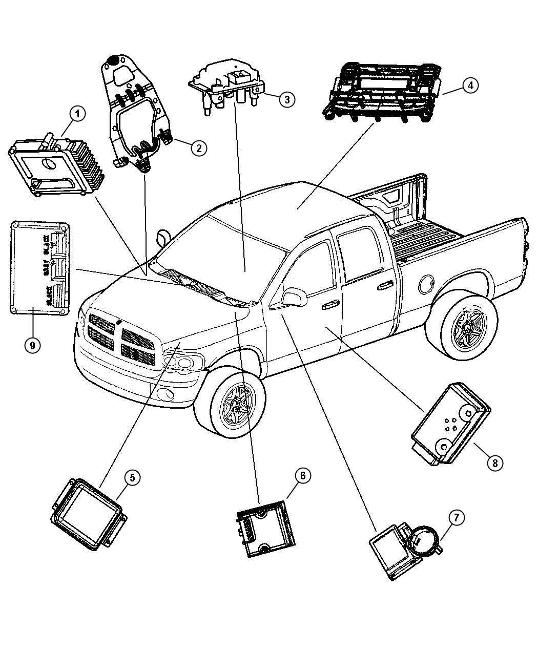 Dodge Ram 2500 Parts Diagram