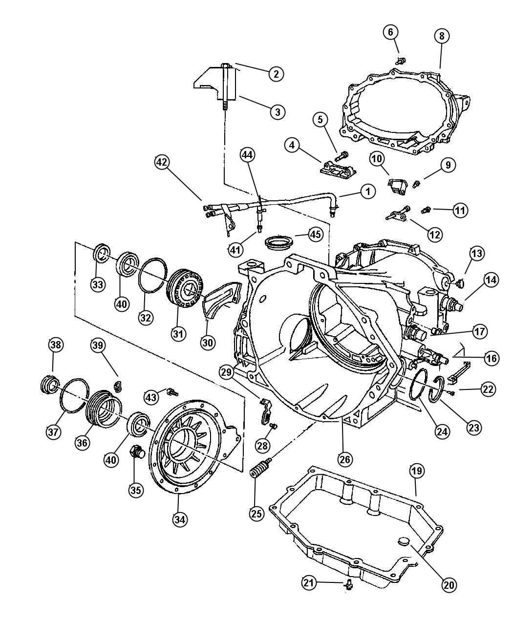 1999 dodge intrepid cover  transaxle differential  pdifferential