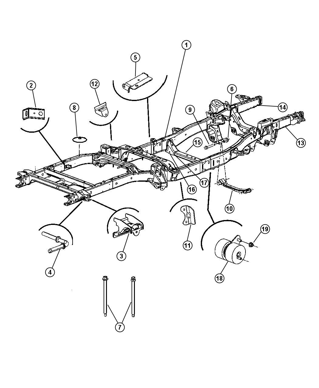 Dodge Ram 1500 Rail Package  Right Front  Frames  Frame