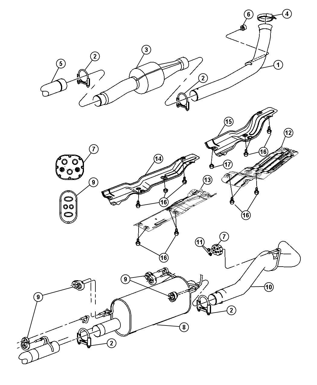 Dodge Ram 2500 Pipe  Exhaust Extension  System  Eth