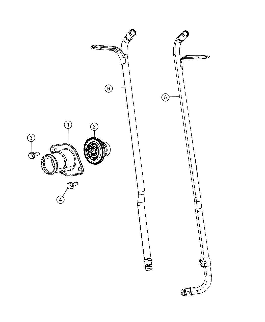jeep grand cherokee tube  coolant outlet  heater  plumbing