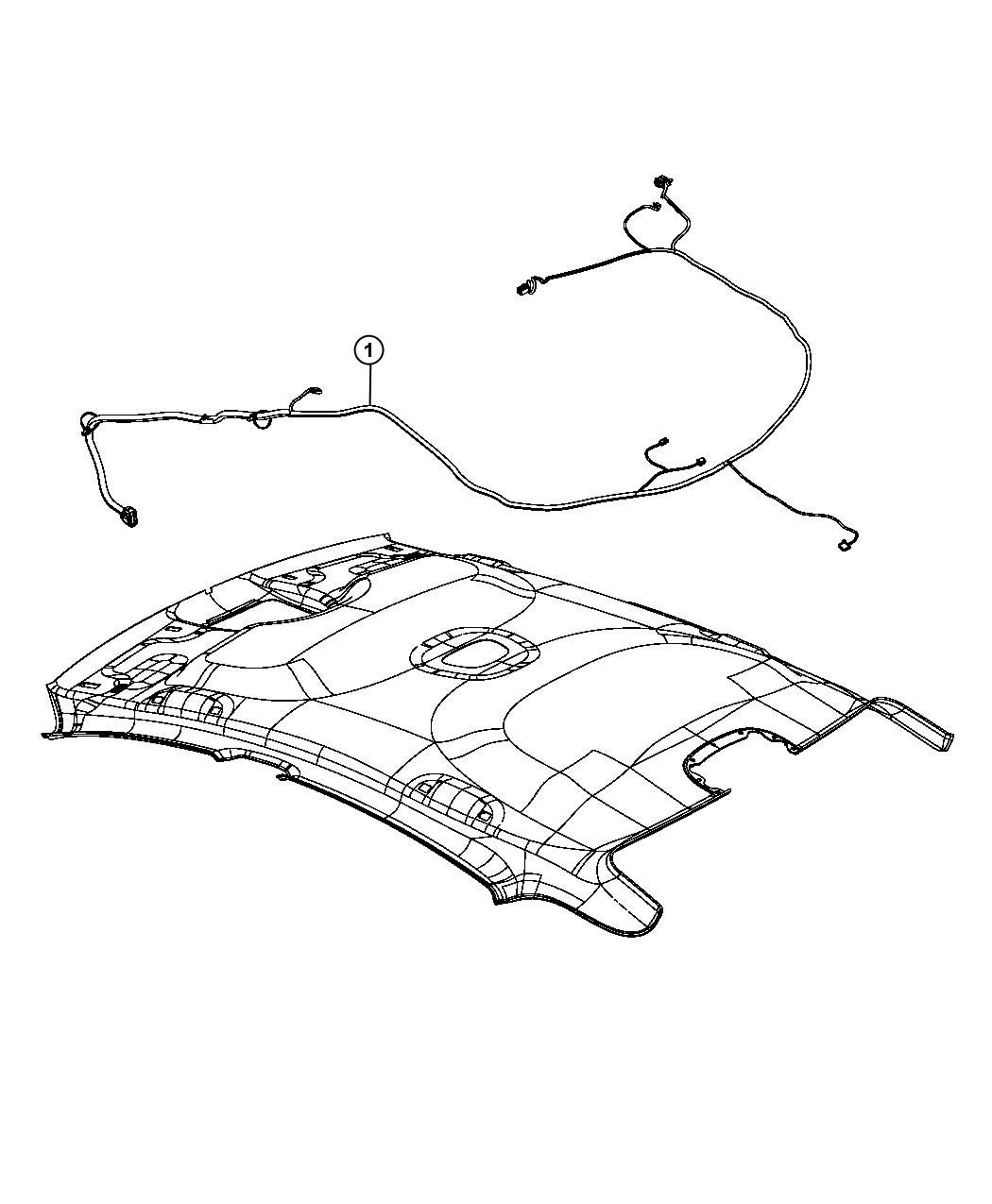 Dodge Dart Wiring  Headliner   Front Courtesy  Map Lamps