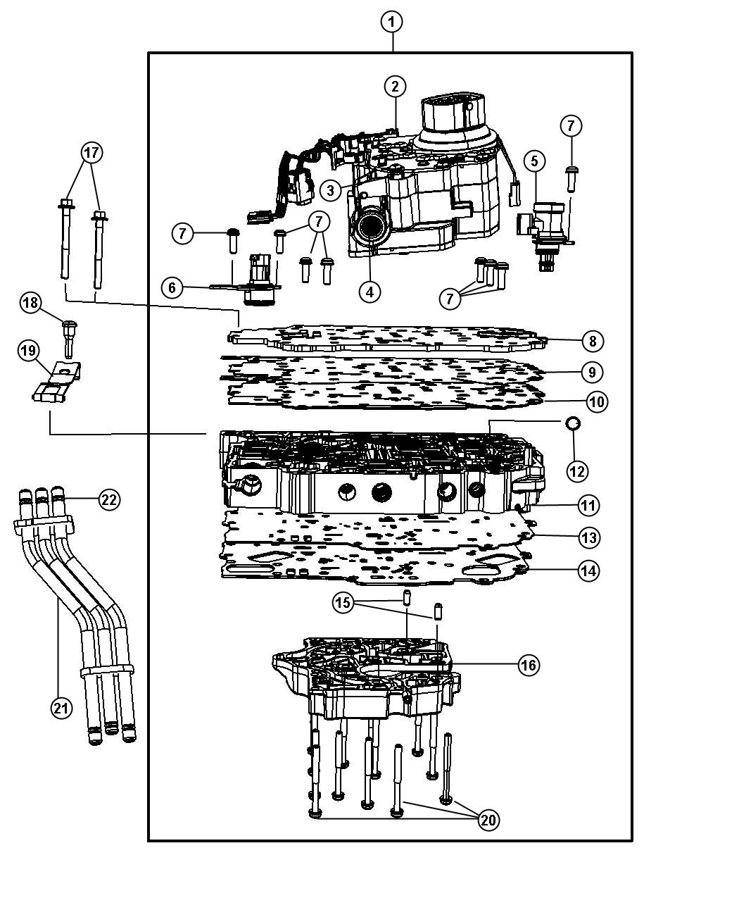 Dodge Journey Solenoid Module  Transmission  Top  Overall  Ratio