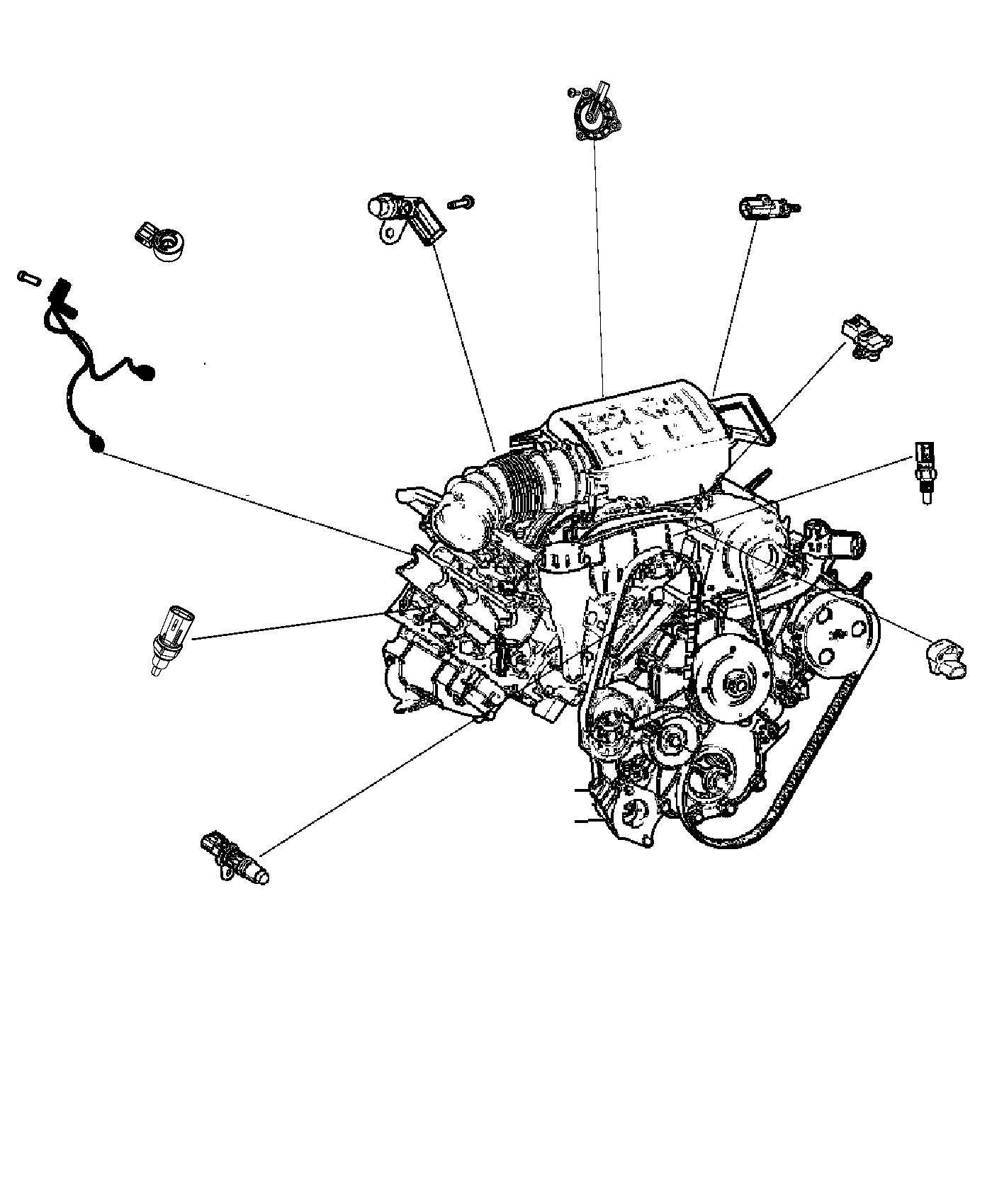 2014 Jeep Grand Cherokee Wiring  Used For  Knock  Oil Pressure  And Temperature Sensor  After 07