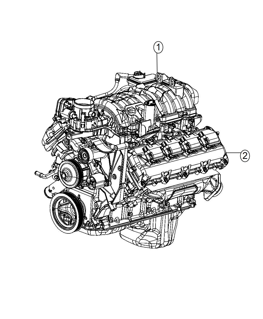 Dodge Ram 1500 Engine  Long Block  Service  Mds  Assembly