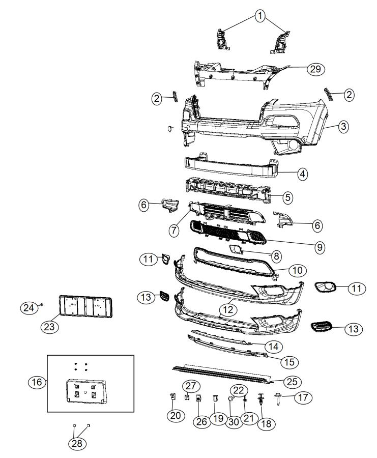 2015 Jeep Cherokee Grille  Lower   Front Fascias Parts