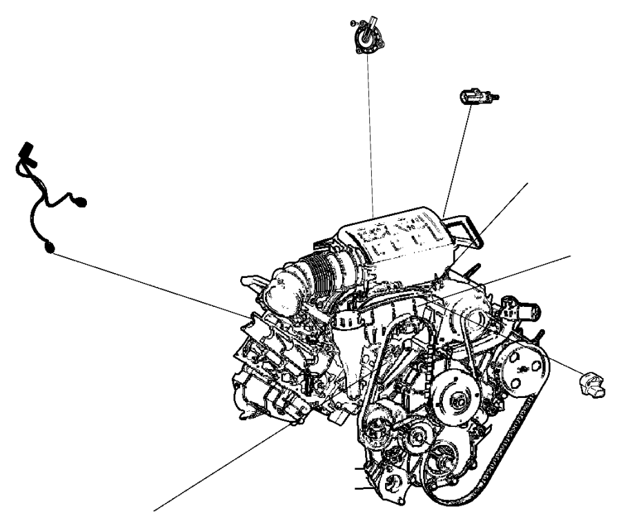 jeep wrangler wiring  used for  knock  oil pressure  and temperature sensor