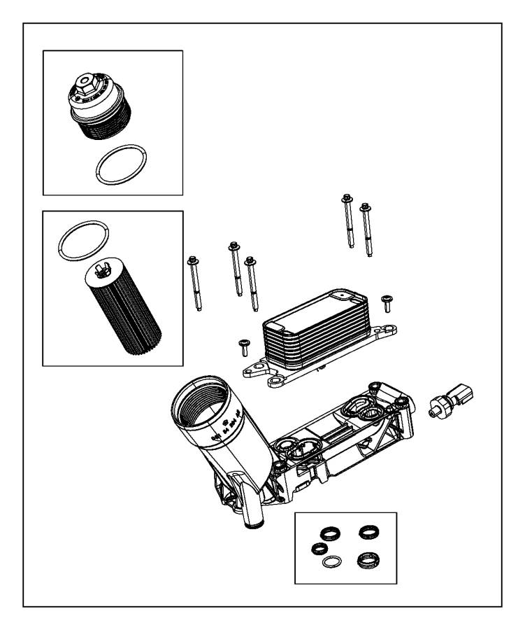 2015 jeep wrangler adapter  engine oil filter adapter